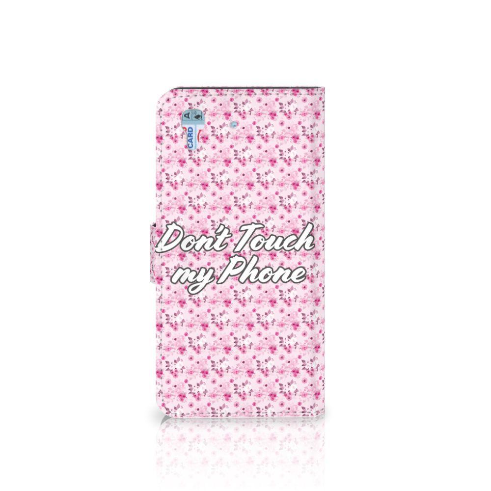 Honor 4A | Y6 Portemonnee hoesje Flowers Pink DTMP