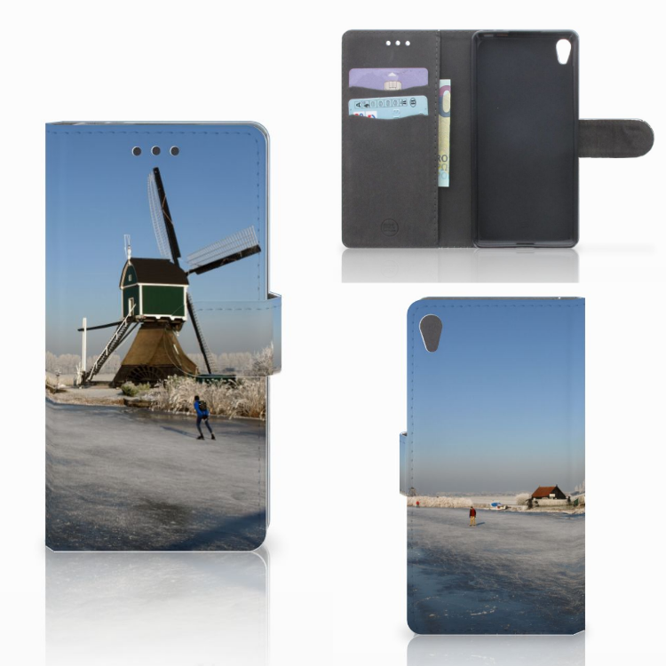 Sony Xperia E5 Flip Cover Schaatsers