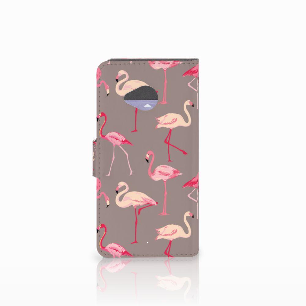 HTC U11 Life Telefoonhoesje met Pasjes Flamingo