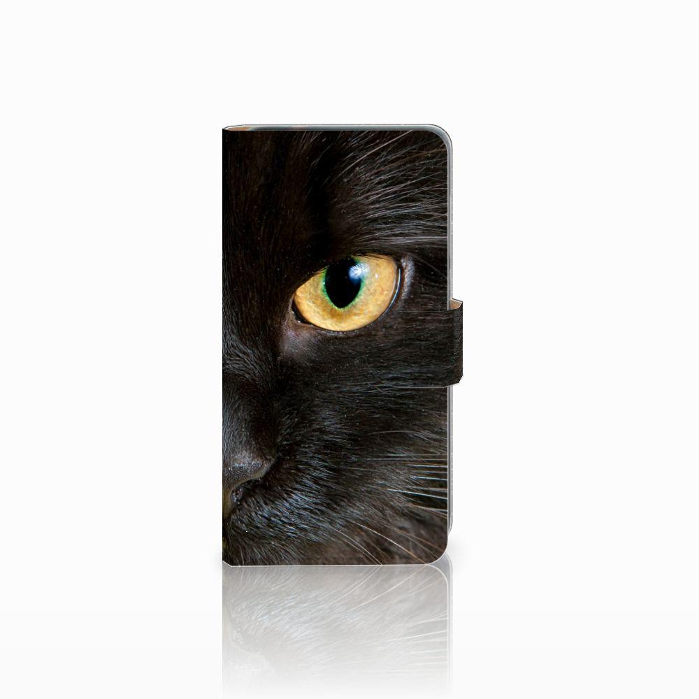 Huawei P8 Lite 2017 Uniek Boekhoesje Zwarte Kat
