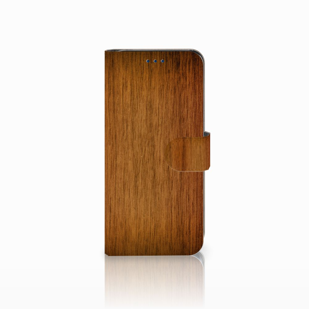 Samsung Galaxy S8 Book Style Case Donker Hout