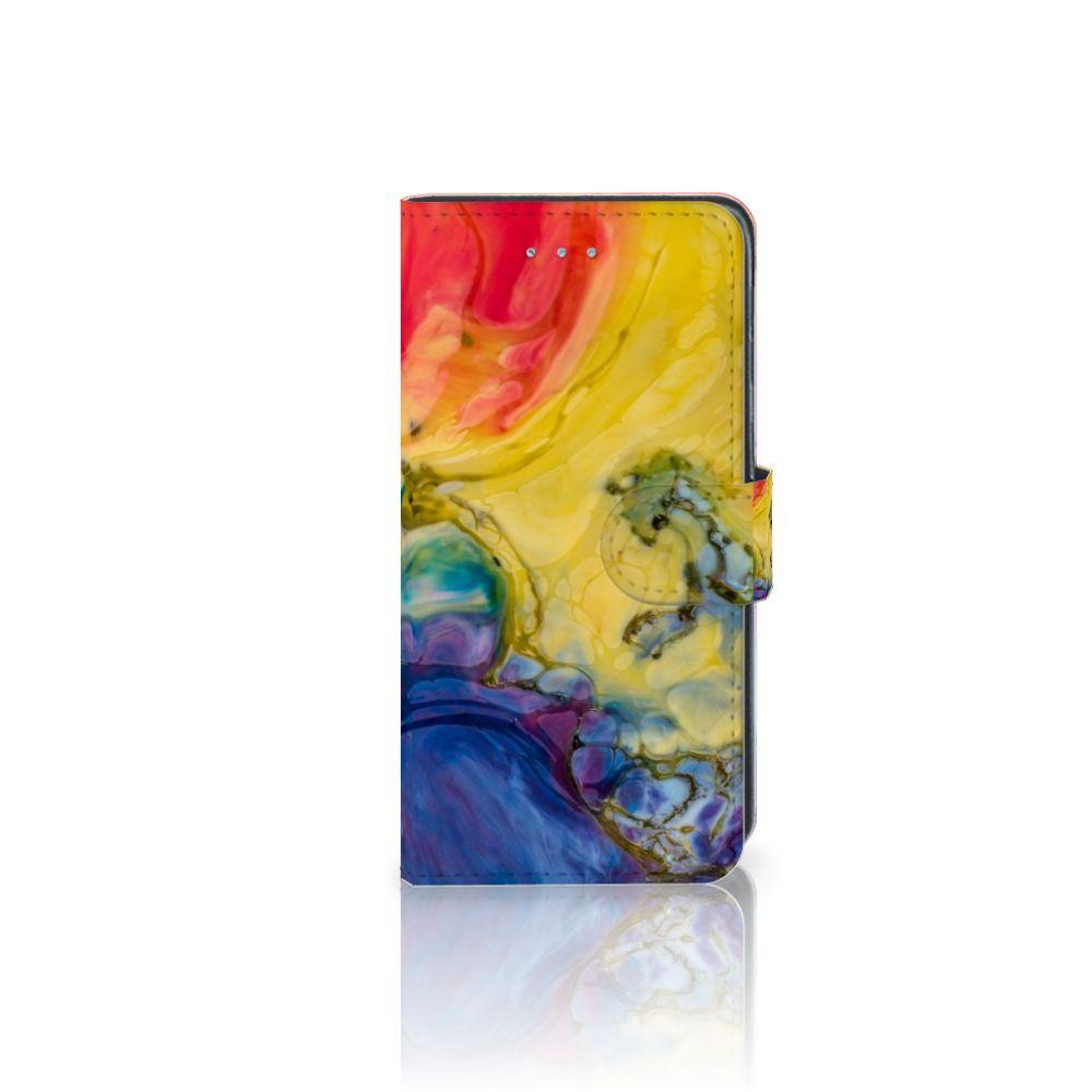 Samsung Galaxy J3 2016 Uniek Boekhoesje Watercolor Dark