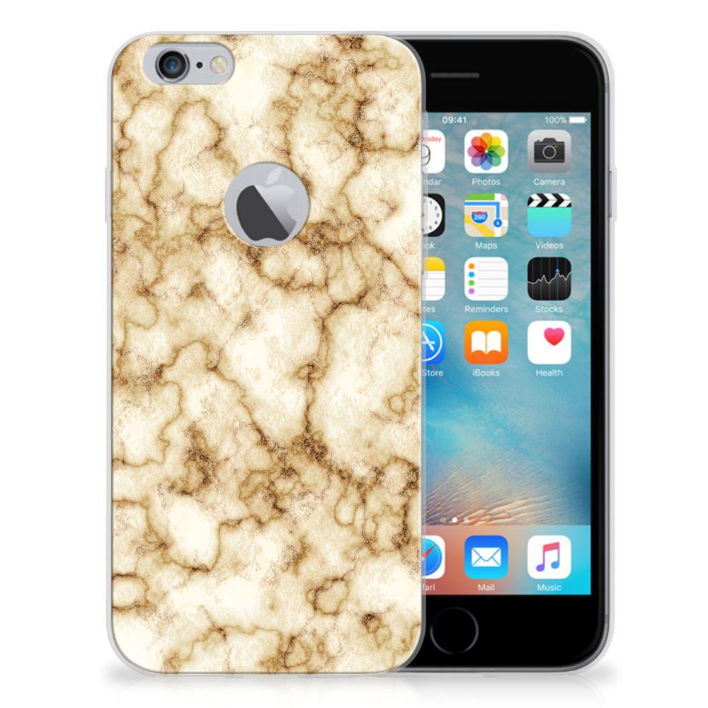 Apple iPhone 6 Plus | 6s Plus TPU Siliconen Hoesje Marmer Goud