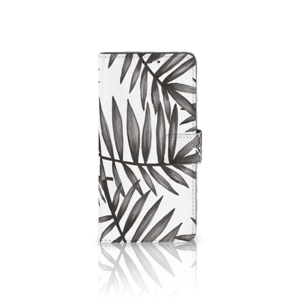 Samsung Galaxy A8 Plus (2018) Hoesje Leaves Grey