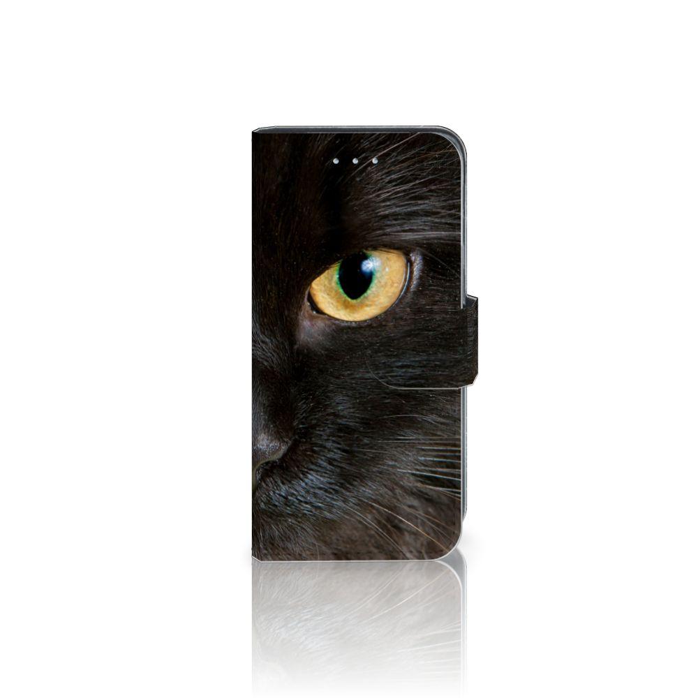 Samsung Galaxy A5 2016 Uniek Boekhoesje Zwarte Kat