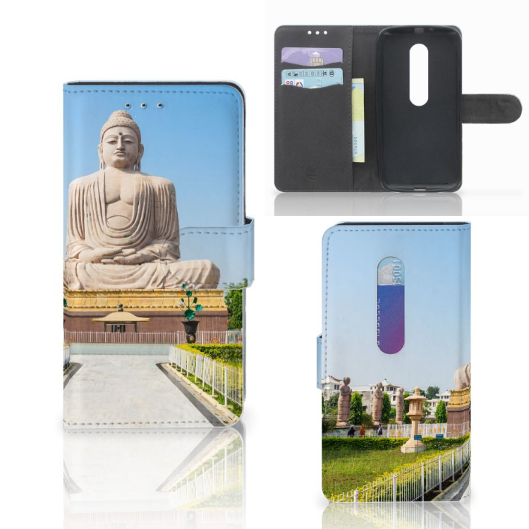 Motorola Moto G 3e Generatie Flip Cover Boeddha