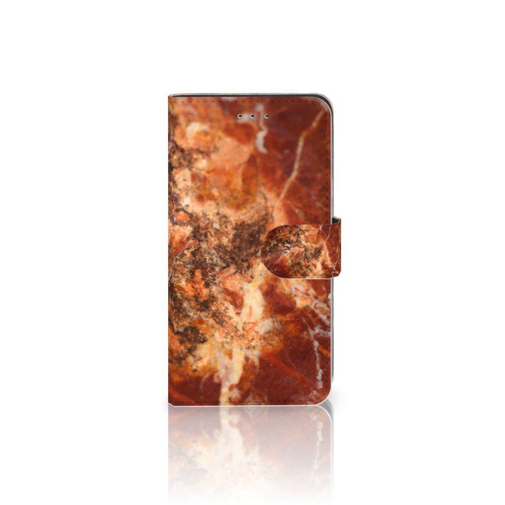 Samsung Galaxy J4 2018 Boekhoesje Design Marmer Bruin
