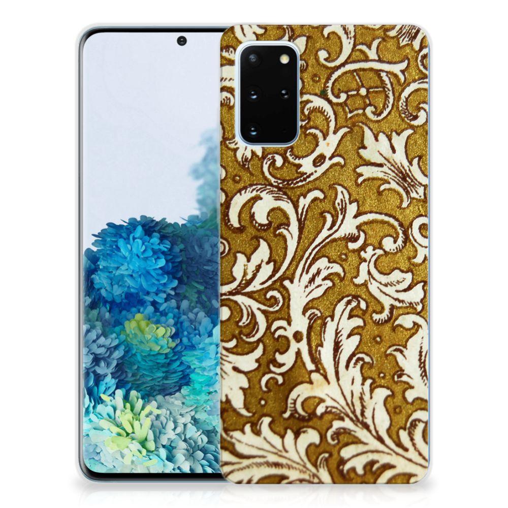 Siliconen Hoesje Samsung Galaxy S20 Plus Barok Goud