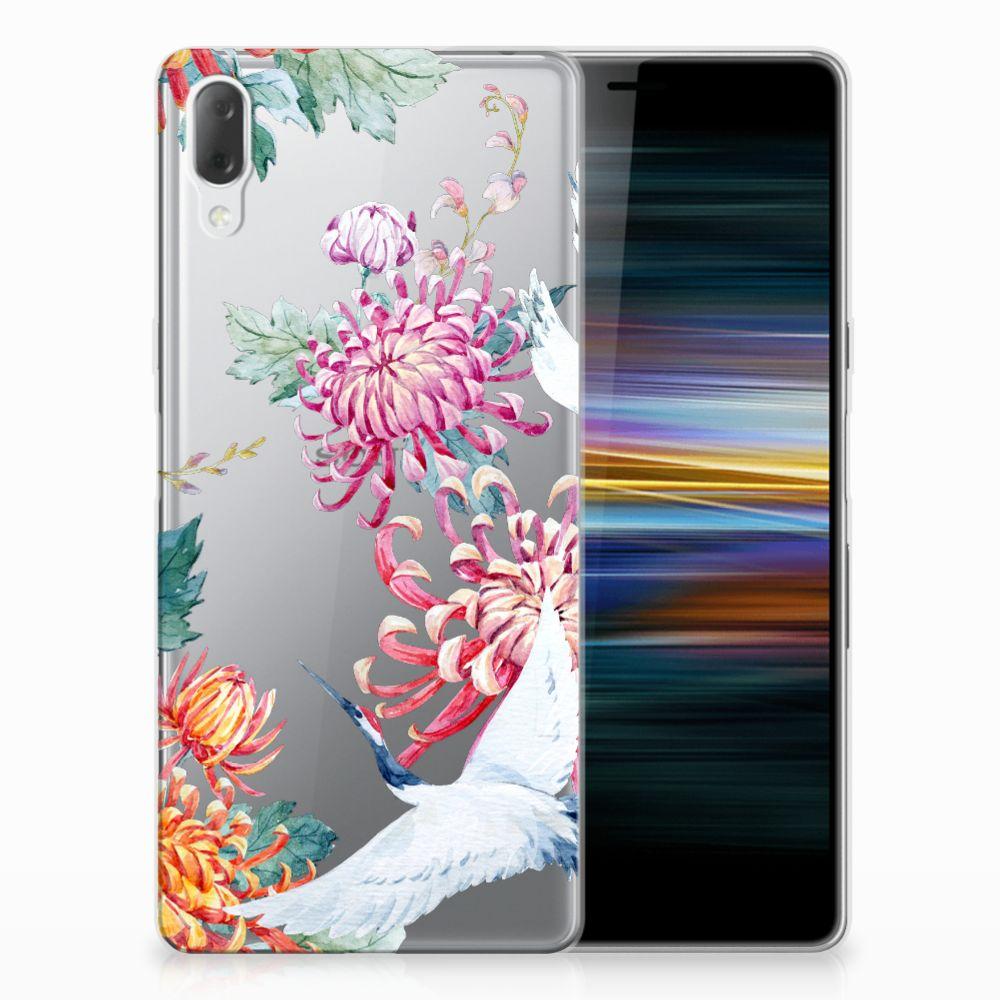 Sony Xperia L3 Leuk Hoesje Bird Flowers