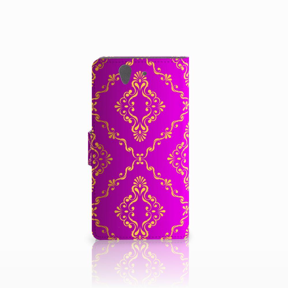 Wallet Case Sony Xperia Z Barok Roze