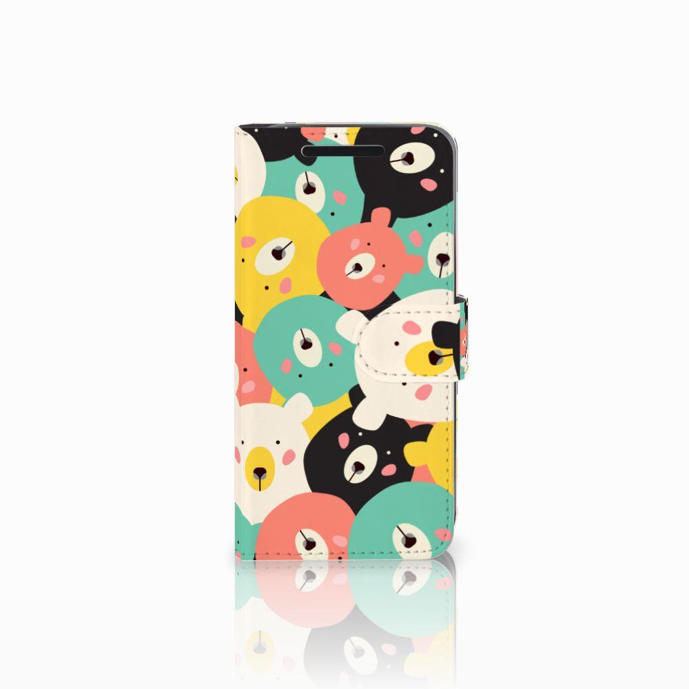 HTC One M9 Uniek Boekhoesje Bears