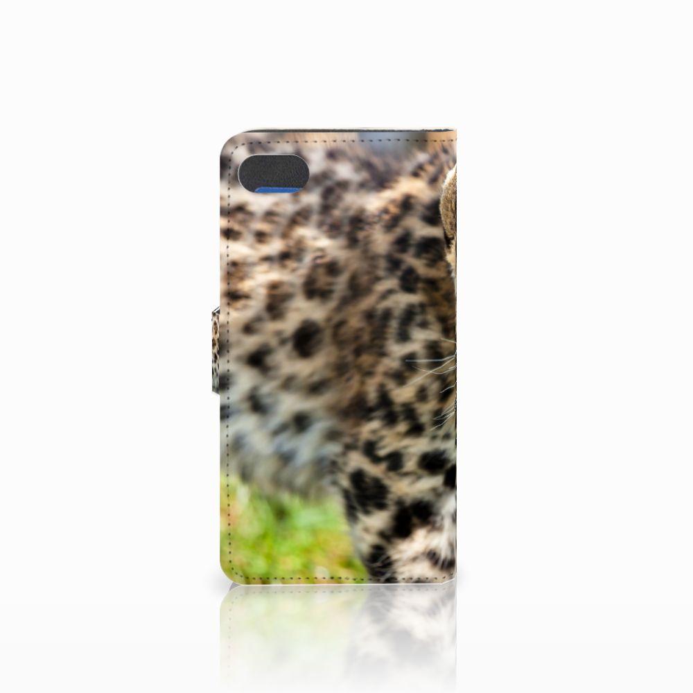 Huawei Y5 2018 Telefoonhoesje met Pasjes Baby Luipaard