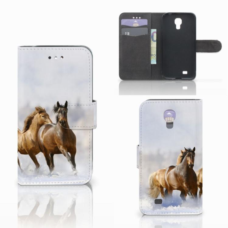 Samsung Galaxy S4 Telefoonhoesje met Pasjes Paarden