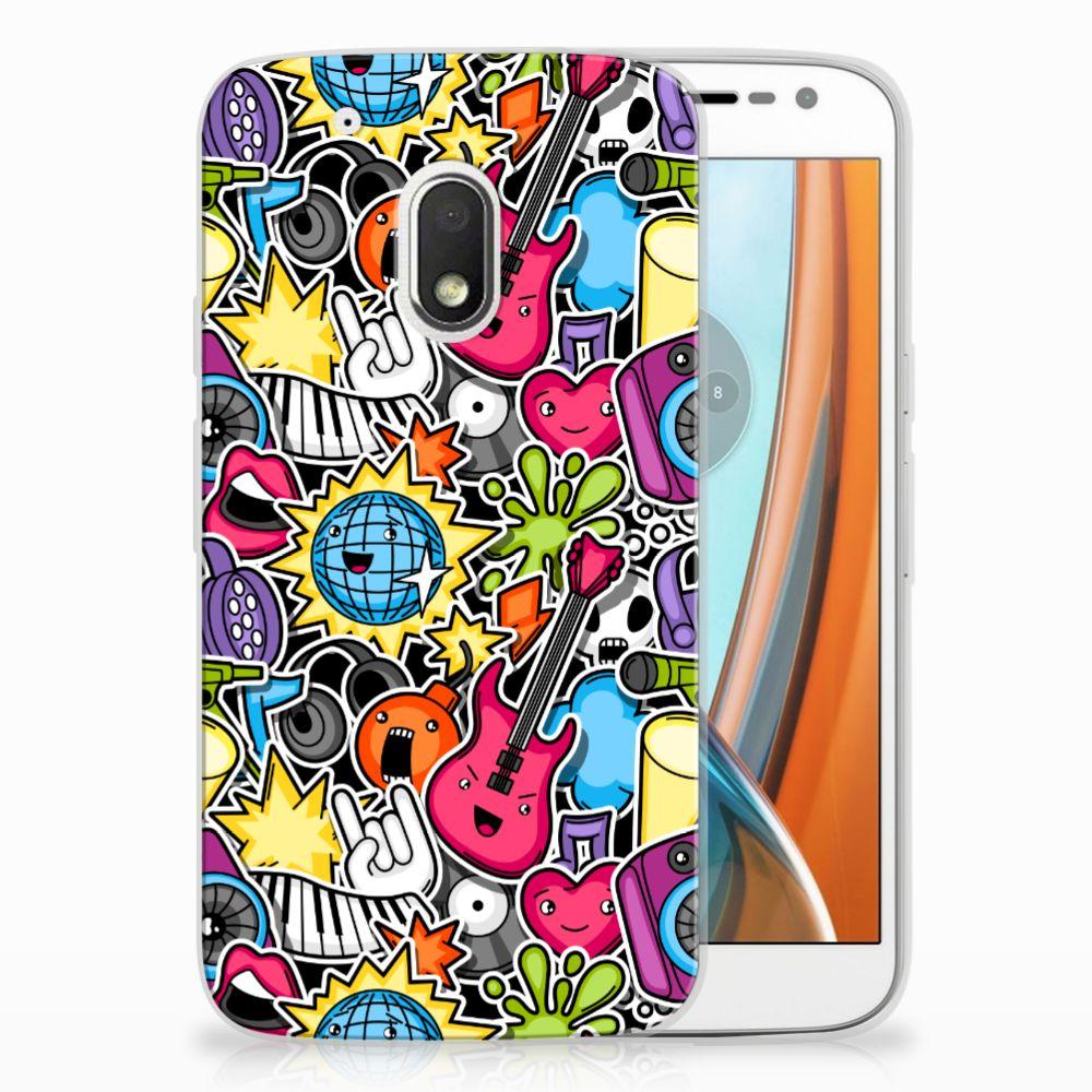 Motorola Moto G4 Play Uniek TPU Hoesje Punk Rock
