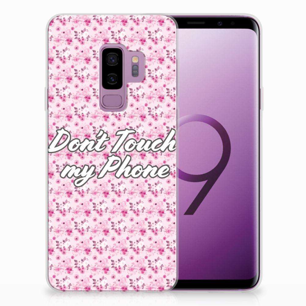 Samsung Galaxy S9 Plus Uniek TPU Hoesje Flowers Pink DTMP