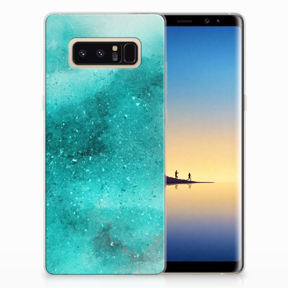 Samsung Galaxy Note 8 Uniek TPU Hoesje Painting Blue