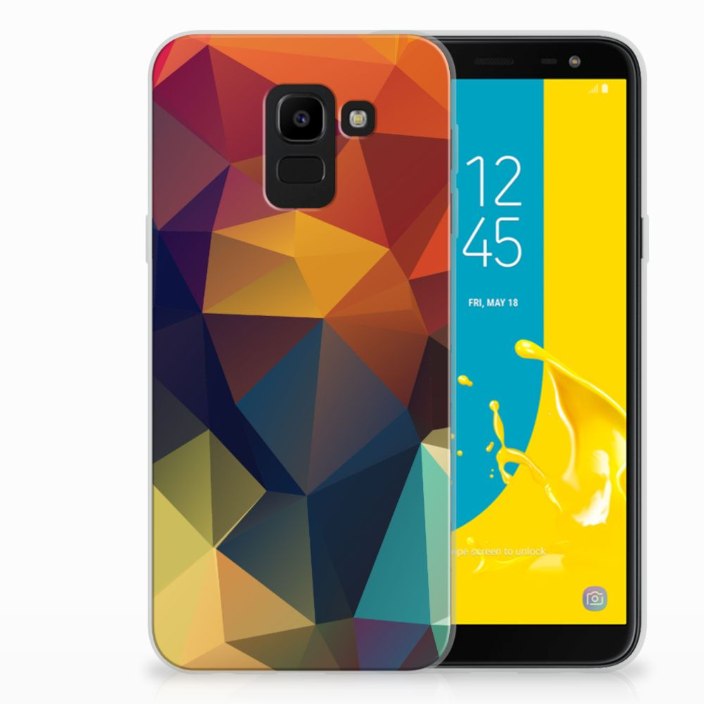 Samsung Galaxy J6 2018 TPU Hoesje Design Polygon Color