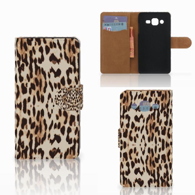 Samsung Galaxy J2 (2015) Telefoonhoesje met Pasjes Leopard