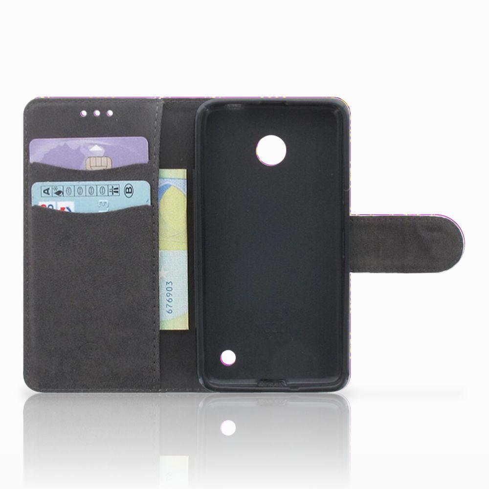 Wallet Case Nokia Lumia 630 Barok Roze