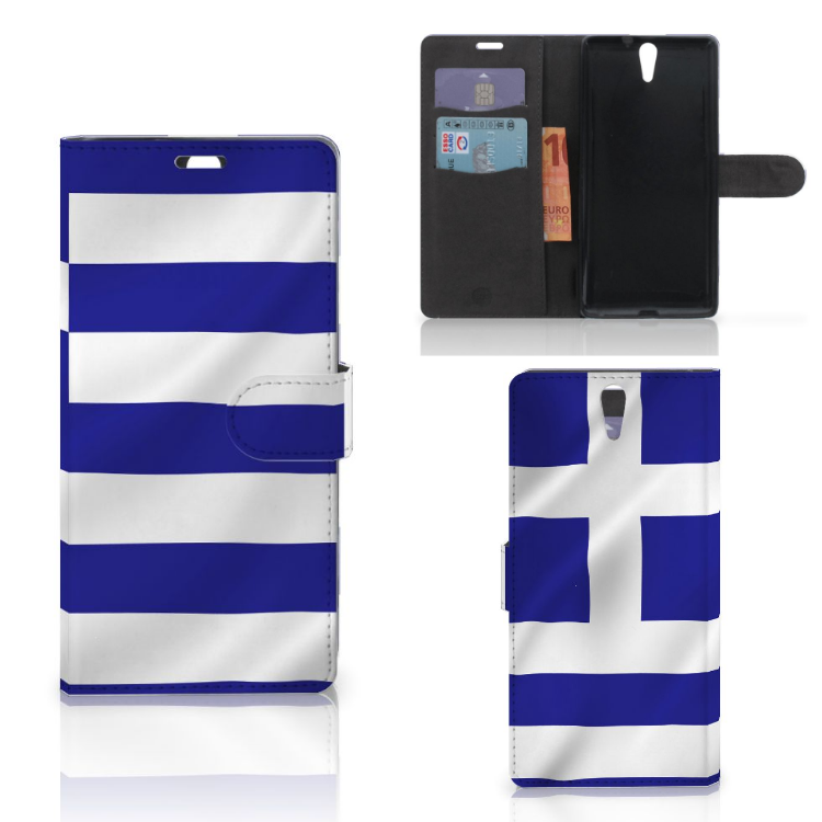 Sony Xperia C5 Ultra Bookstyle Case Griekenland