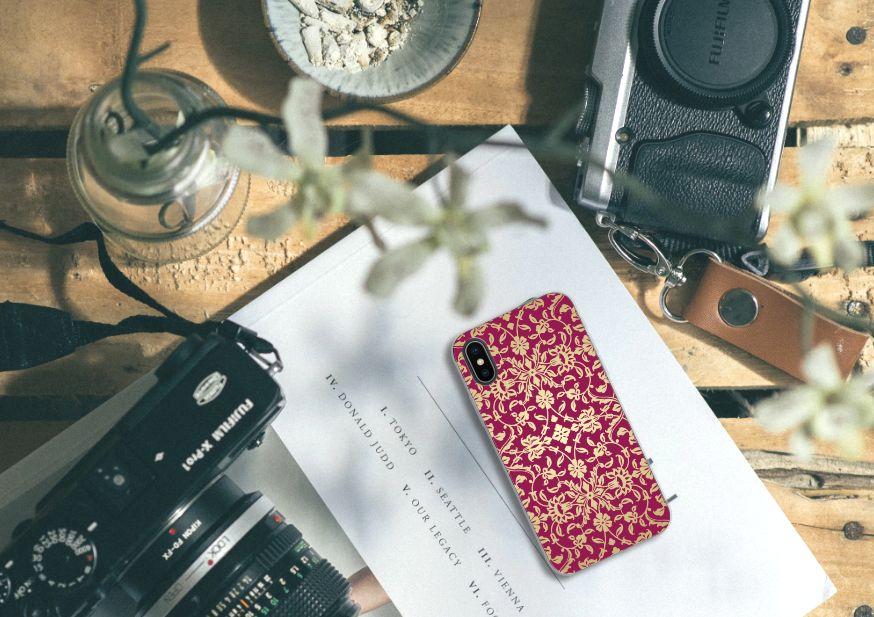 Apple iPhone X | Xs TPU Hoesje Design Barok Pink