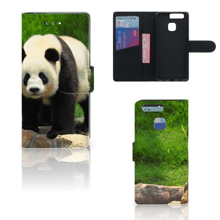 Huawei P9 Telefoonhoesje met Pasjes Panda