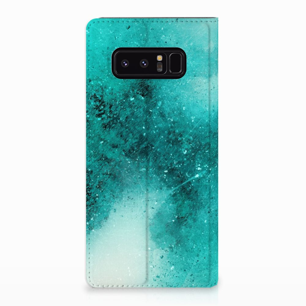 Samsung Galaxy Note 8 Uniek Standcase Hoesje Painting Blue
