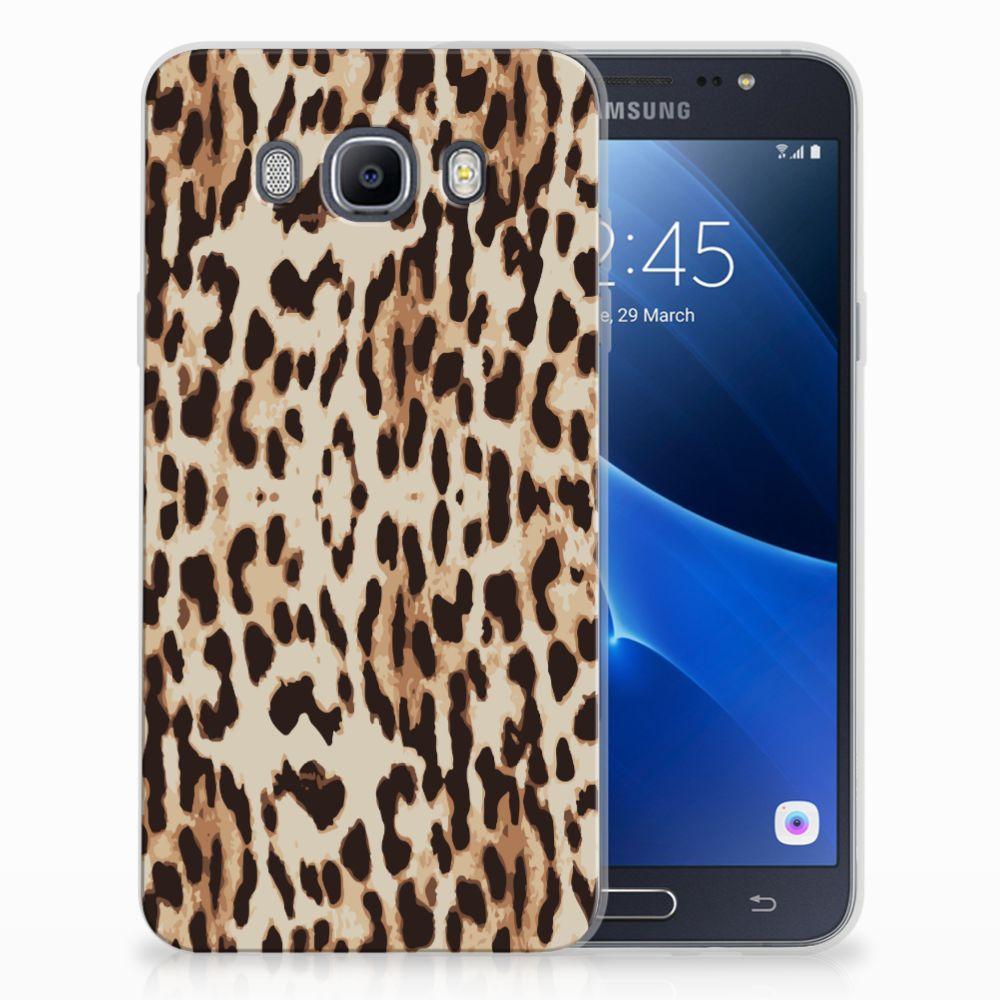 Samsung Galaxy J7 2016 TPU Hoesje Leopard