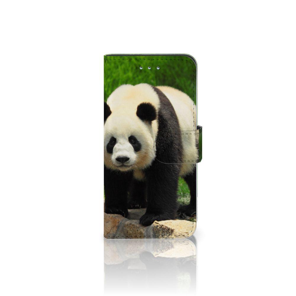 Samsung Galaxy S6   S6 Duos Telefoonhoesje met Pasjes Panda