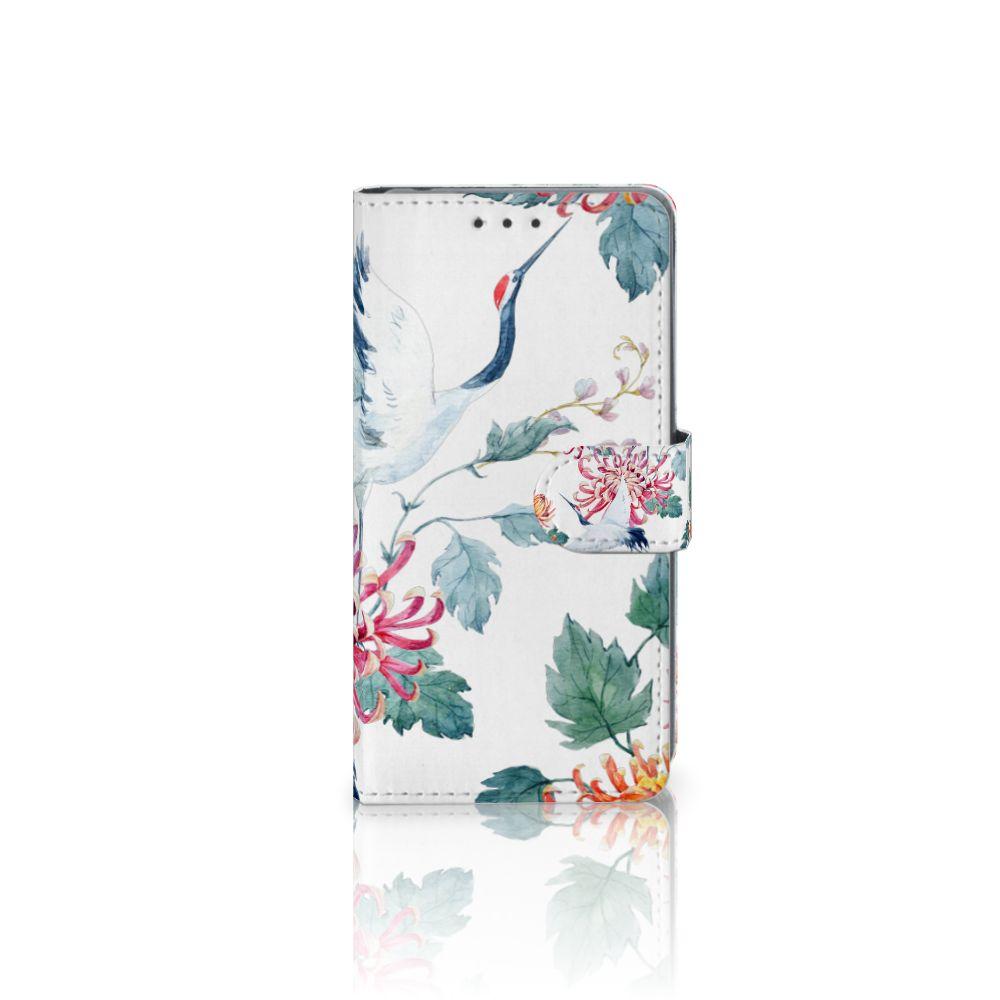 Sony Xperia Z2 Uniek Boekhoesje Bird Flowers