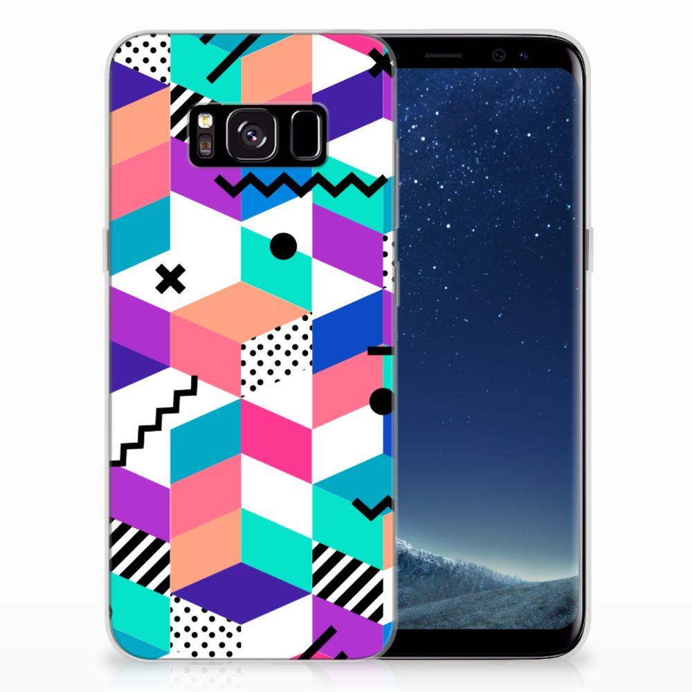 Samsung Galaxy S8 TPU Hoesje Blokken Kleurrijk