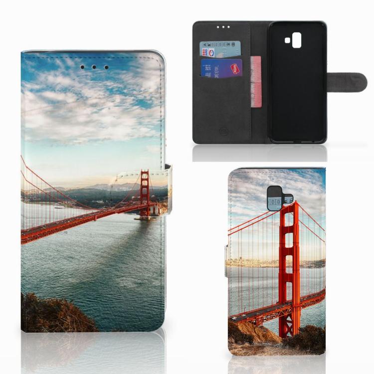 Samsung Galaxy J6 Plus (2018) Flip Cover Golden Gate Bridge