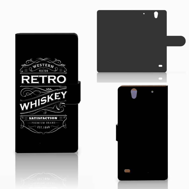 Sony Xperia C4 Book Cover Whiskey