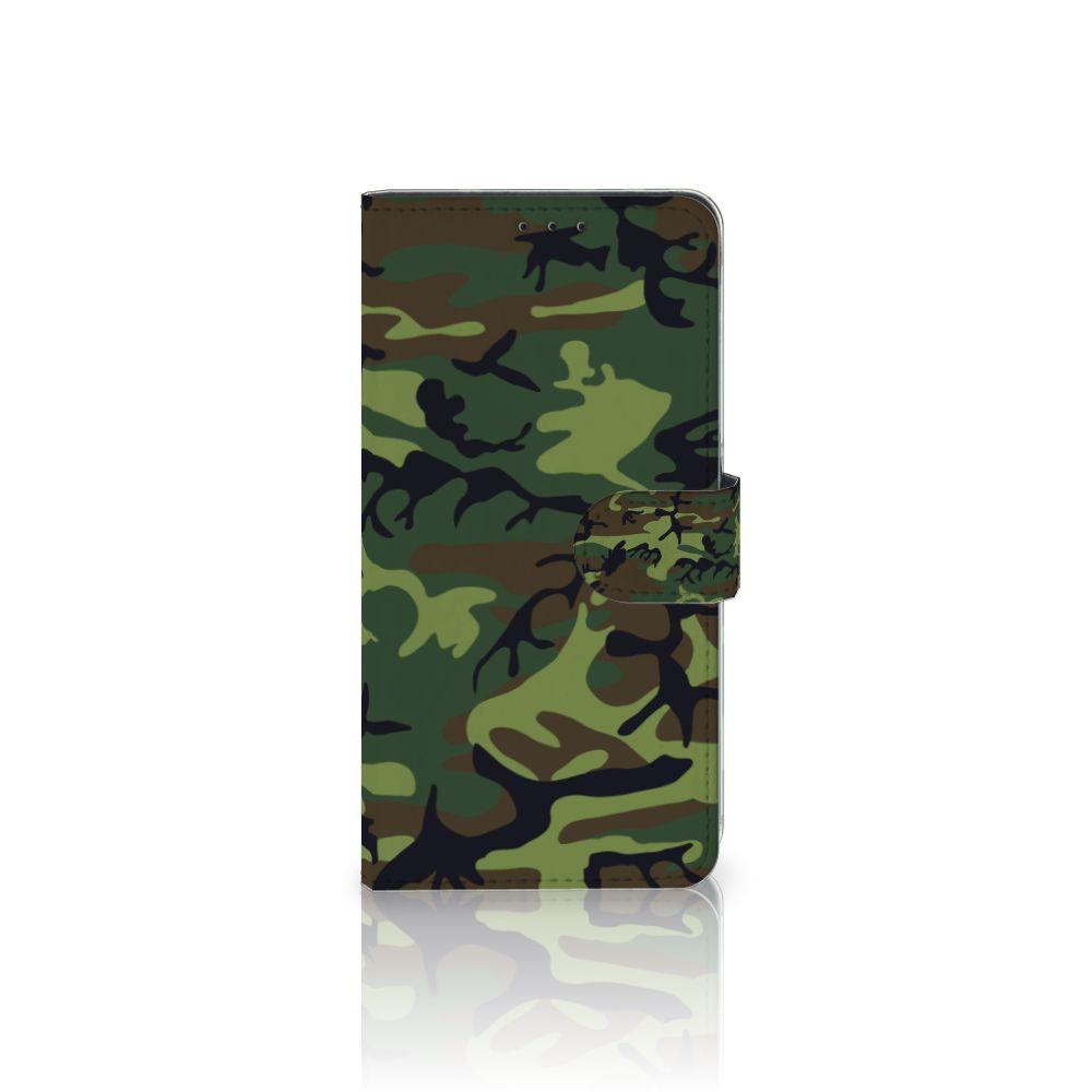 Samsung Galaxy A8 Plus (2018) Boekhoesje Design Army Dark