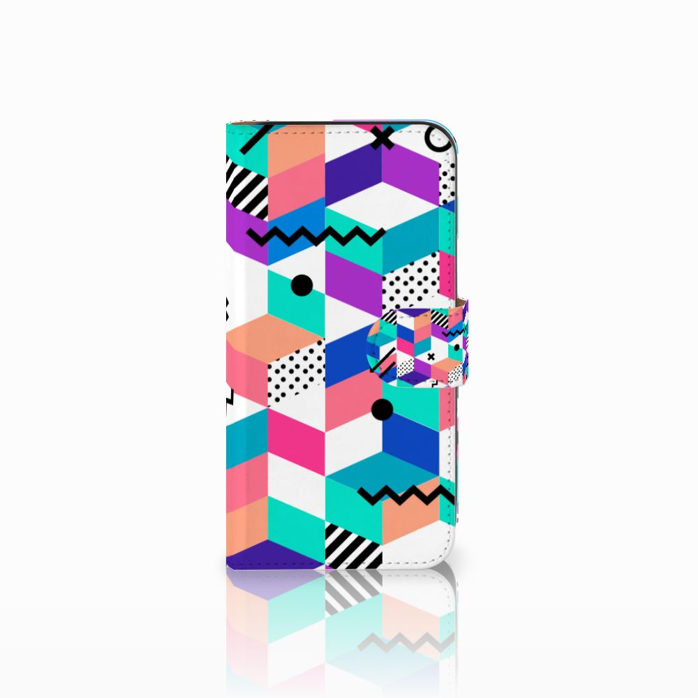 Samsung Galaxy E5 Bookcase Blokken Kleurrijk