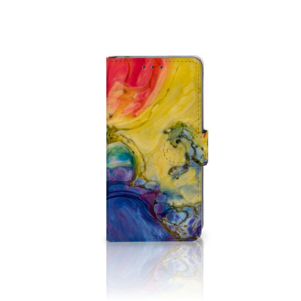 Sony Xperia Z2 Uniek Boekhoesje Watercolor Dark