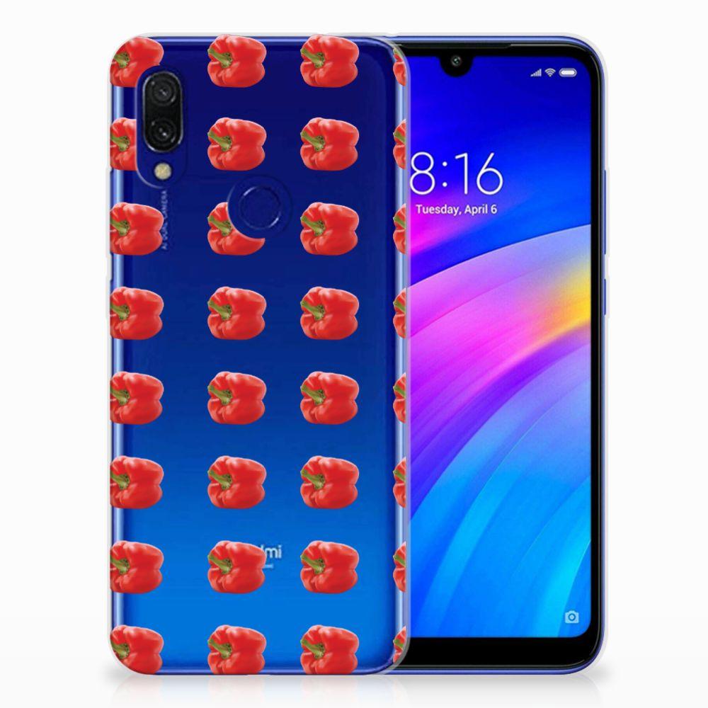 Xiaomi Redmi 7 Siliconen Case Paprika Red
