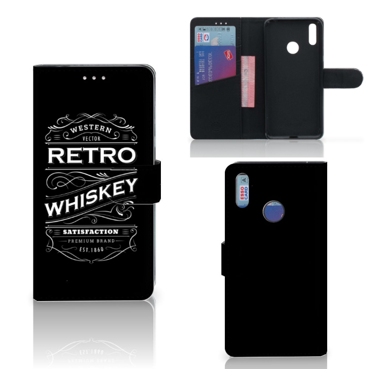 Huawei Y7 (2019) Book Cover Whiskey