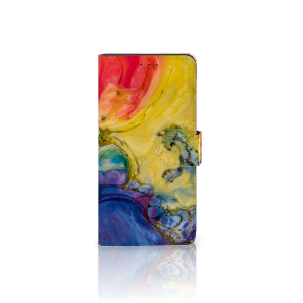 Samsung Galaxy A7 (2018) Uniek Boekhoesje Watercolor Dark