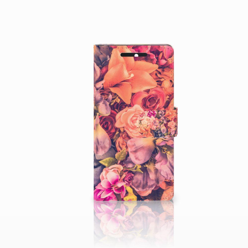HTC Desire 628 Boekhoesje Design Bosje Bloemen