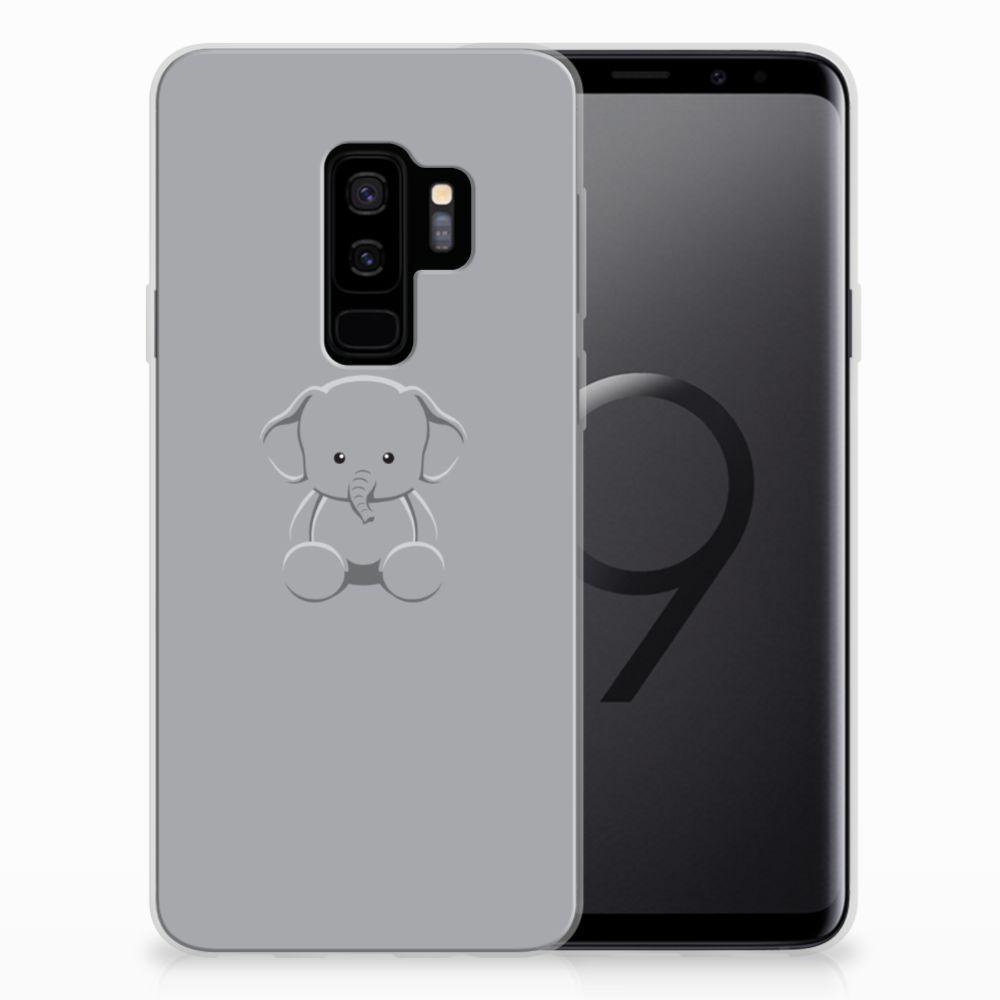 Samsung Galaxy S9 Plus Telefoonhoesje met Naam Grijs Baby Olifant