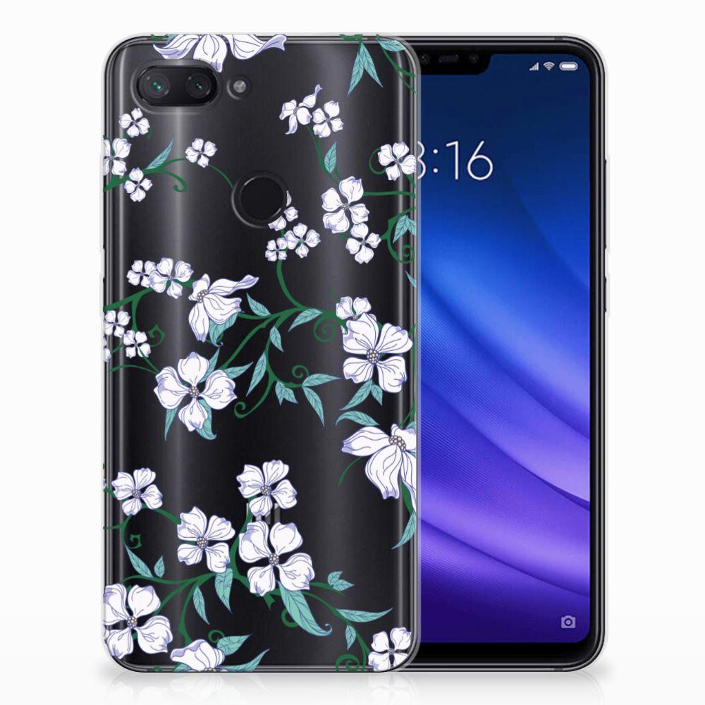 Xiaomi Mi 8 Lite Uniek TPU Hoesje Blossom White