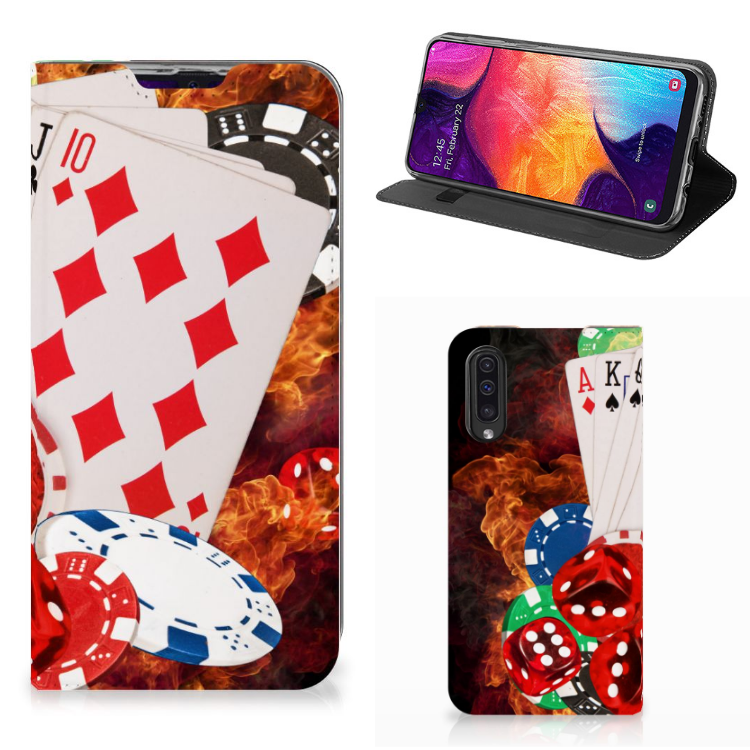 Samsung Galaxy A50 Hippe Standcase Casino