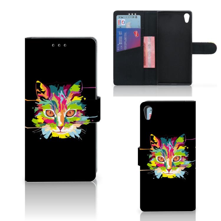 Sony Xperia XA1 Ultra Leuk Hoesje Cat Color
