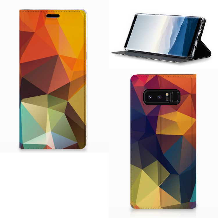 Samsung Galaxy Note 8 Stand Case Polygon Color
