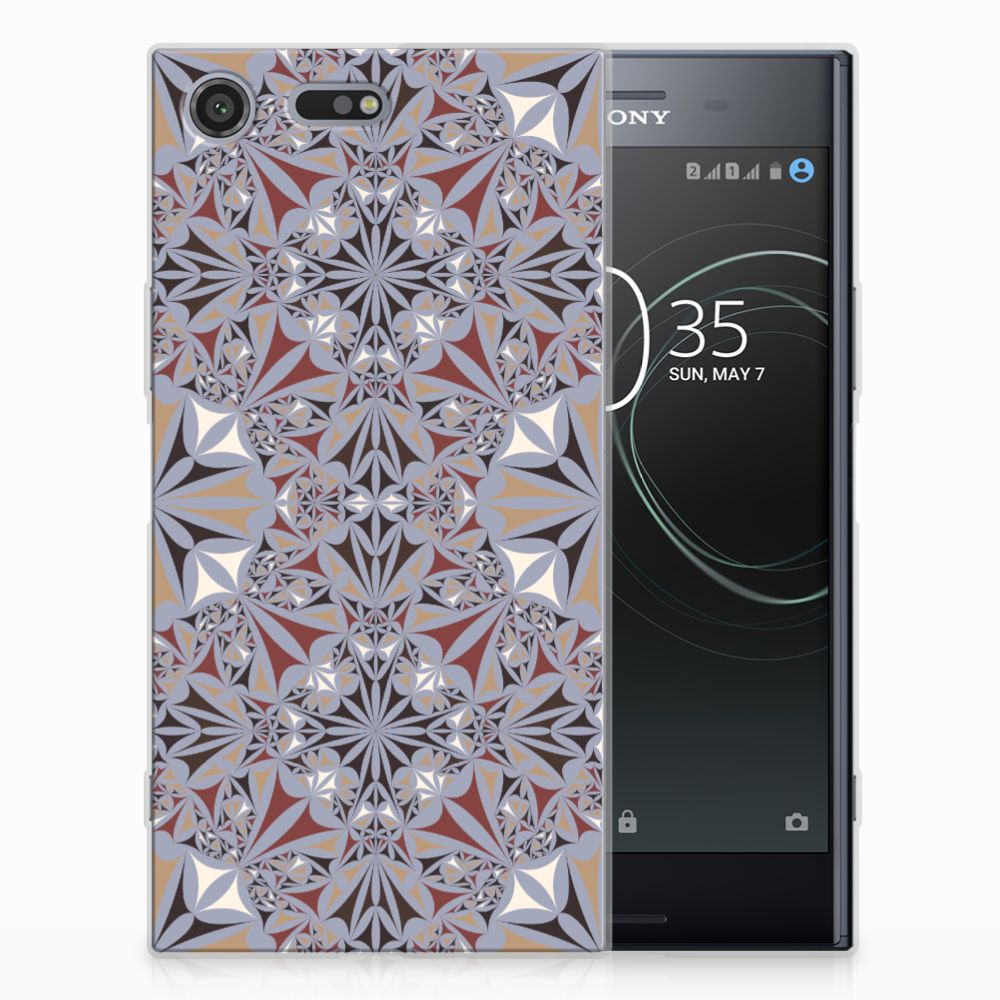 Sony Xperia XZ Premium TPU Siliconen Hoesje Flower Tiles