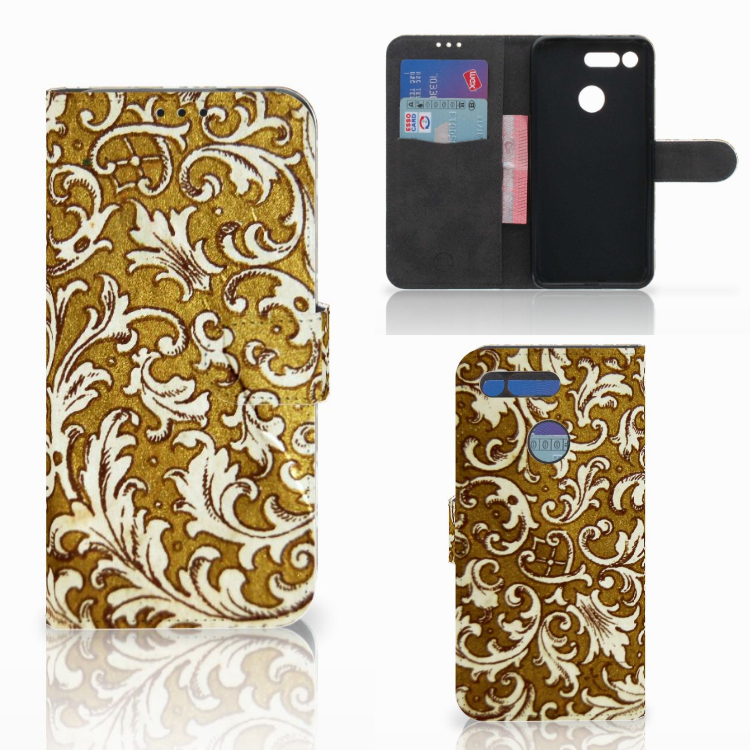 Wallet Case Honor View 20 Barok Goud