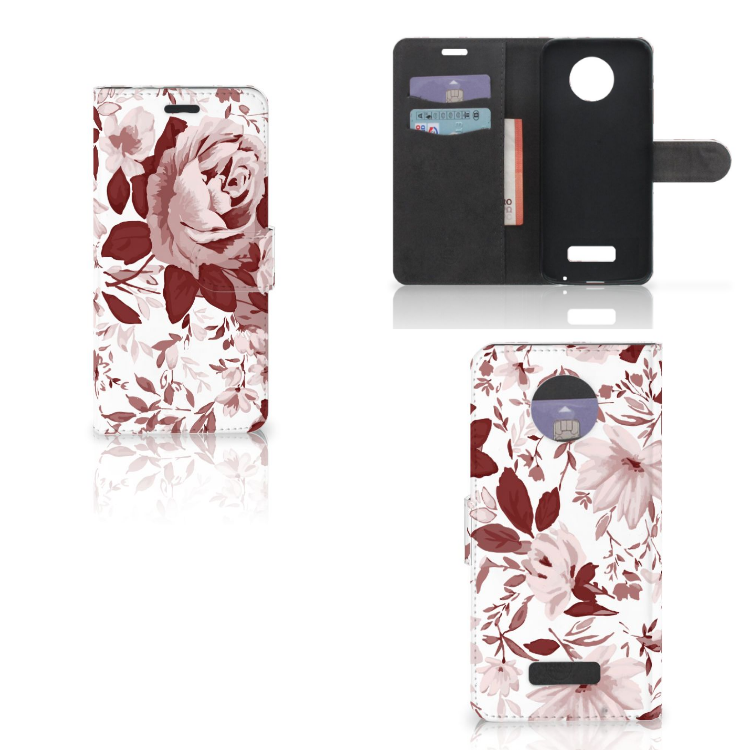 Hoesje Motorola Moto Z Watercolor Flowers