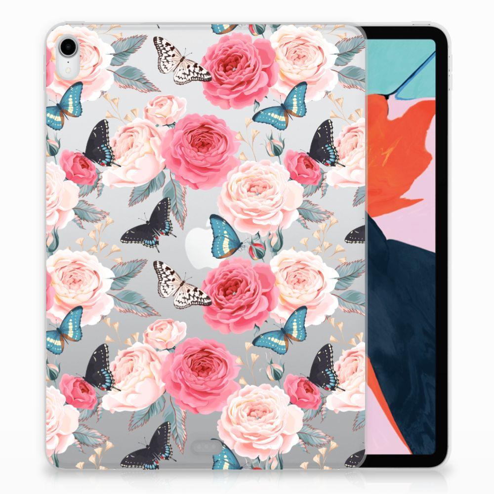 Apple iPad Pro 11 inch (2018) Uniek TPU Hoesje Butterfly Roses