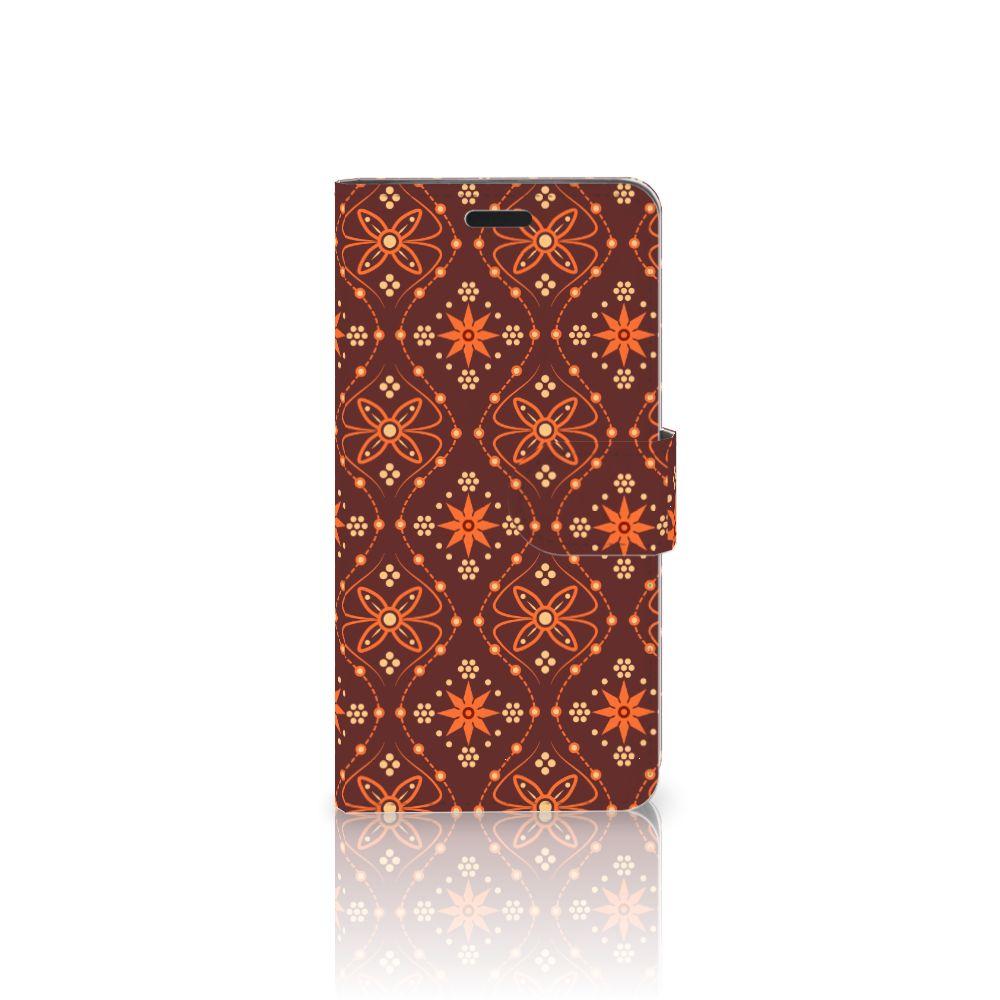 HTC 10 Uniek Boekhoesje Batik Brown